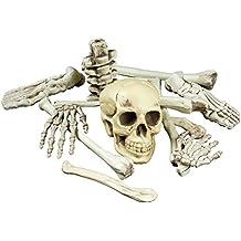 Halloween Deko Knochen Skelett 12 Teile für Grusel Haus