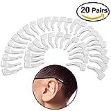 Foxnovo Silikon Ohr Grip Haken Anti-Rutsch-Pads für eyeglasses-20Paar (transparent)