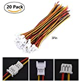 3 Pin : JST Angle Connectors,1.25MM 2-Pin / 3-Pin Male Female Connector Plug With Wires Cables,Pack Of 20 (3 Pin)