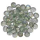 #8: AsianHobbyCrafts Glass Stone (Half Round Type) Size:- 15mm: Wt 250g (Approx)