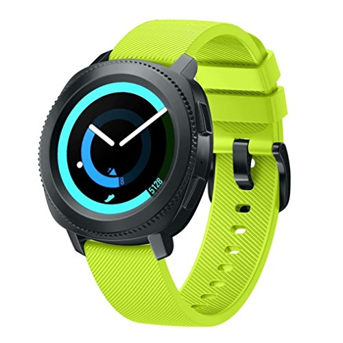 BarRan® Gear Sport SM-R600 Correa del Reloj, Reemplazo Silicona Deportiva WatchBand para Samsung Gear Sport SM-R600