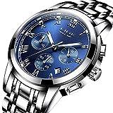 Herrenuhren, LIGE Luxusmarke Edelstahl Analog Quarzuhr Wasserdicht Sport Herren Uhren Mode Beiläufig Business Armbanduhr