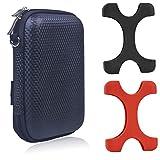 Larcenciel Seagate Backup Plus HDD Estuche protector,2 pc Estuche de silicona+Bolsa de viaje EVA Cubierta golpes para 2.5 'Seagate Backup Plus (Slim), Expansión,WD Elementos 1T,Sony,Toshiba etc