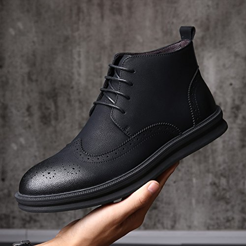 HL-PYL-il nuovo alto stivali scarpe e stivali All-Match aumentata retrò stivali singola. black