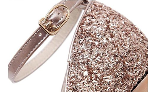 6 cm Piattaforma Cinghie di caviglia a punta da spalla 16 cm Scarpe Individualità Heel Partito di nozze Casual D'sory Donne Women Shoes EU Size 35-40 Silver