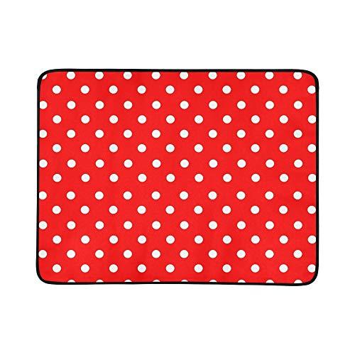 SHAOKAO Tupfen-tragbare und Faltbare Deckenmatte 60x78 Zoll-handliche Matte für kampierende Picknick-Strand-im Freienreise - 1046 Teppich
