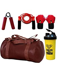 SOOPLE SPORTZ Gym Bag Combo Set Enclosed With Soft Leather Gym Bag For Men And Women For Fitness - Bag Size 49cm... - B07D9MQN11