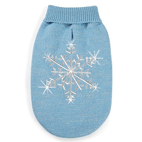 zack-zoey-shimmer-night-snowflake-sweater-for-dogs-8-xx-small-blue-by-m-isaac-mizrahi