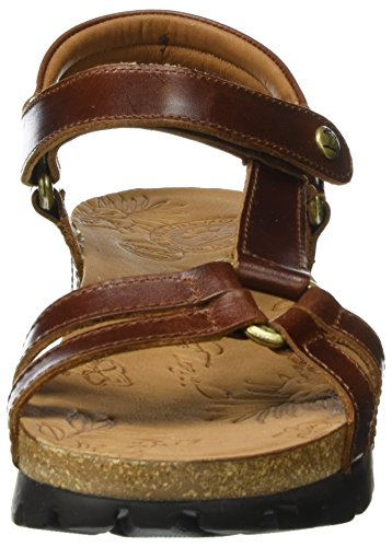 Panama Jack Sally Clay, Sandales Bout Ouvert Femme Marron (Bark)
