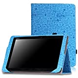 MoKo Etui ASUS Transformer Book T100HA - Etui Fin et Pliable pour Tablette Transformer Book T100HA avec son Dock Clavier Windows 10 2-en-1 (Ne compatible pas avec T100 Chi), Cutie Charm BLEU