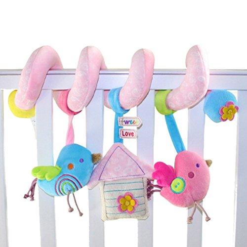 Baby Kinderwagenkette Activity Spielzeug Spirale für Babyschale Kinderwagen