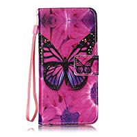 Galaxy S8 Plus Case [Free Tempered Glass Screen Protector],Mo-Beauty® Full Body Colorful Pattern Design Magnetic Flip Folio Premium PU Leather Wallet Case With [Credit Card Holder Slots] Cover For Samsung Galaxy S8 Plus (Butterfly)