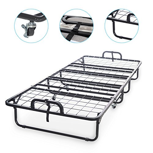 "Milliard Diplomat Folding Bed/Guest Bed - Small Single (31"" Wide) with 12.5 cm Thick Luxurious Memory Foam Mattress and a Super Strong Sturdy Frame - 190cm x 79cm"