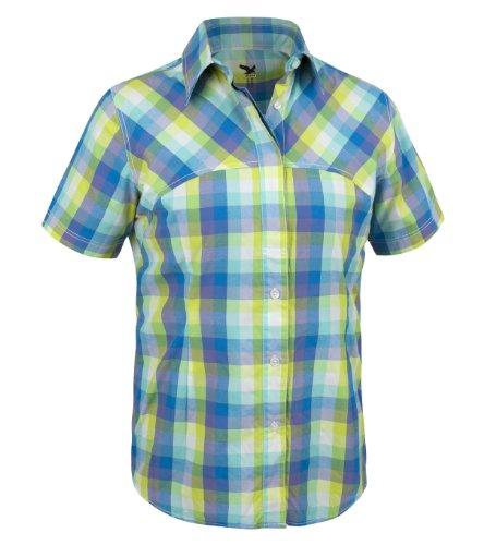 SALEWA Damen Hemd Sira Dry Am W Short Sleeve Shirt Mehrfarbig (M avataq lagoon)