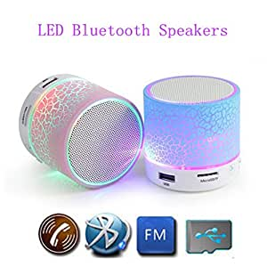 M-STARK Alcatel Idol 2 Mini Compatible Mini Bluetooth Wireless Speaker (S10)/Portable Audio Player Play FM Radio, audio from TF card and Auxiliary input - Multicolor