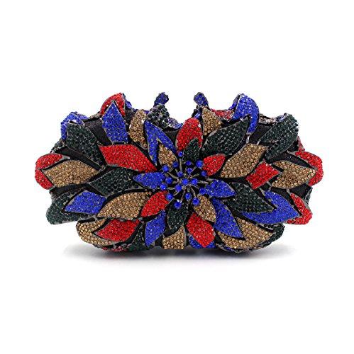 WYB Europäischen und amerikanischen Luxus-Kristall-Diamant-Abendbeutel / spezielle Design Blume voller Diamant-Abendbeutel / Brautbeutel color 2