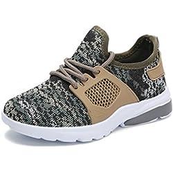 Hawkwell Camuflaje Zapatos de Deportes Runing Sneaker Para Unisex Niños Caqui 32EU