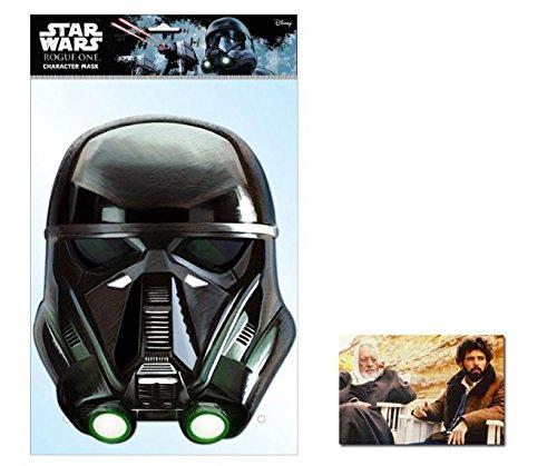 Death Trooper Star Wars Rogue One Single Karte Partei Gesichtsmasken (Maske) Enthält 6X4 (15X10Cm) starfoto