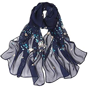 Rose Printing Scarf,BaojunHT Forever Love Ladies Gifts Shwals Soft Stylish Scavers