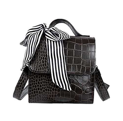 Mitlfuny handbemalte Ledertasche, Schultertasche, Geschenk, Handgefertigte Tasche,Vintage Women New Krokoprägung Handtasche Messenger Retro Schal Umhängetasche