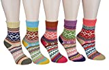 CrazySell Women's Super Thick Soft Comfortable Crew Socks Wool Thick Winter 5-pack Mix Colors (Style B)
