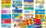 Kinder-Etiketten mit Ihrer kompletten Adresse