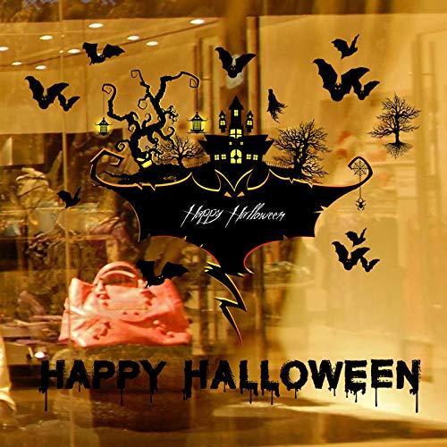 Kreative Halloween Wandaufkleber Wohnzimmer Schlafzimmer Glasfenster Hintergrund Dekoration Abnehmbare Wandaufkleber H 60 * 90 Cm (Für Lustige Einladungen Halloween-sprüche)