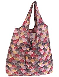 Scales Print Stylish Folding Pocket Tote Bag For Travel Shopping Picnic Beach Hiking Trips