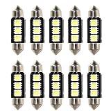 Rupse 10 X 36mm 3 SMD LED Ampoule Feston de Voiture Lampe de Lecture / Coffre C5W Lampe de Plaque d'Immatriculation 5050 Canbus Décodage Haute Luminosité