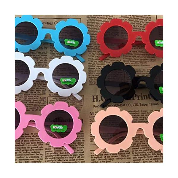 Gugutogo Marco de plástico de Encaje Espejo Decorativo para niños Lente Redonda Gafas de Sol de Moda para bebés Gafas… 2