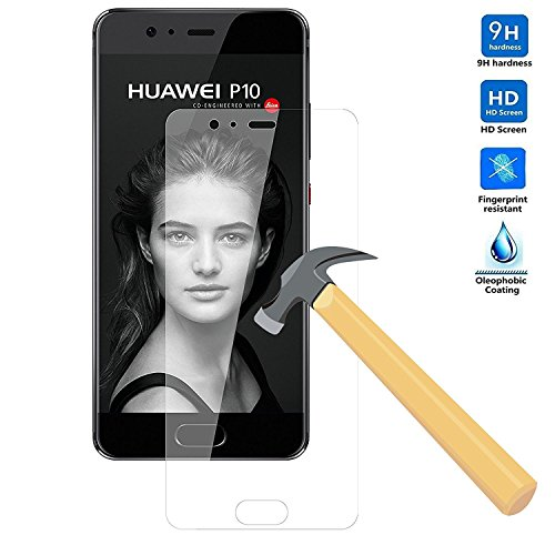 Huawei P10 Plus 5.5 Zoll Schutzfolie, KuGi Huawei P10 Plus panzerglas folie - 9H Härte HD klar gehärtetem Glas Displayschutzfolie für Huawei P10 Plus 5.5 Zoll smartphone. (2 PACK)