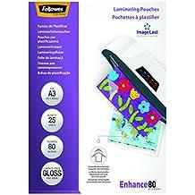 Fellowes ImageLast - Pack de 25 fundas de plastificar, formato A3, 80 micras