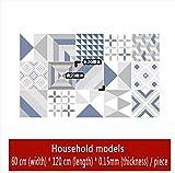 PLYY Mittelmeer-Stil Fliesenaufkleber Küche Fliesen Refurbished Boden Balkon Bodenaufkleber Wasserdicht Rutschfeste Selbstklebende Dicke Aufkleber, B