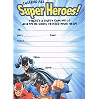 Justice league batman superman flash (pack of 10) party invitations