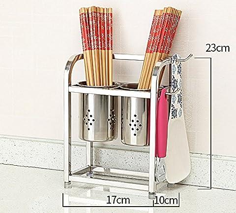Porte-cuillère en acier inoxydable 304 / grille de cuisine maison créative ( taille : 17*10*23CM )