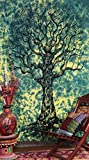 Dry Tree Tapestry hippie mandala Bohemian Psychedelic intricato indiano copriletto 233,7 x 208,3 cm Aakriti Gallery Green
