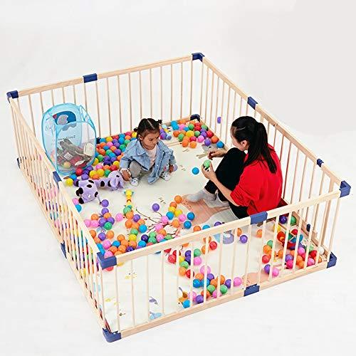 Baby Laufgitter Kids Activity Center, Sicherheitsspielplatz Mit Tor, Holzzaun Für Drinnen Und Draußen, rutschfeste Matten (Size : 160x200cm) (Kinderbett Activity Center)