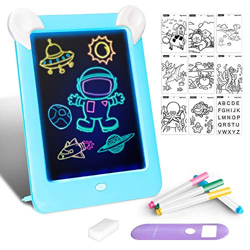 Tableta de Dibujo Pizarra 3D Mágico con Luces LED Educativo...