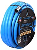 "Zephyr Next-gen Garden Hose (3/4"" x 50ft, Ultra-Light Flexible Rubber, Brass Fittings)"