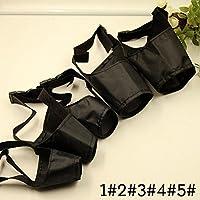 Dekawei 1Lot de 5Taille réglable en nylon Muselière respirant de sécurité Small Medium Grand Chien Bouche Couverture Noir