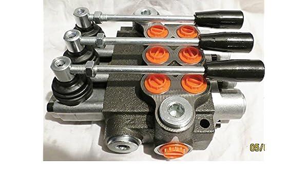 Hydraulik Handsteuerventil l 4-fach 50 Lt für Doppelwirkende zylinder