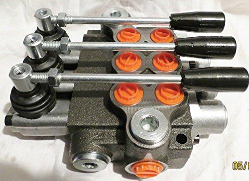 Universal Hydraulik Handsteuerventil 3-fach 50L/für doppelwirkende zylinder (Zylinder-fach)