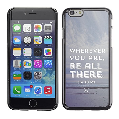 Graphic4You Dont Settle Love Englisch Zitat Nachricht Harte Hülle Case Tasche Schutzhülle für Apple iPhone 6 / 6S Design #9