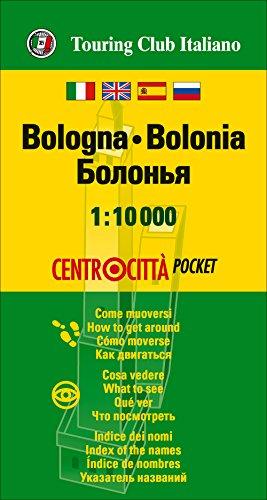 Bolonia centrocittà 1:10.000 plano callejero impermeable. Touring Club Italiano. (Centrocittà pocket)