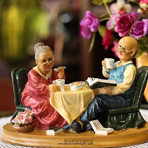 Willower Opa, Oma, Schaukelstuhl, Tee Trinken, Old Lady, Gedenken an die Ehe, Old Lady und Schwiegertochter Geschenke, Valentinstag, Europäischer Stil, Essen im Gesetz