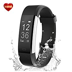 Best Rated Activity Tracker, Slim Fitness Tracker With Heart Rate Monitor, Step Counter Smart Watch With Sleep Monitor, Callsms Reminder Bluetooth Pedometer Watch For Iphone Or Android Phone - Black