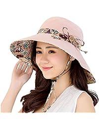 16d3b4a934ae58 Gemini_mall® Womens Sun Hat Summer Reversible UPF 50+ Beach Hat Foldable  Wide Brim Cap