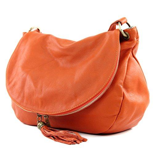 Made Italy , Sac bandoulière pour femme Orange  - Orange