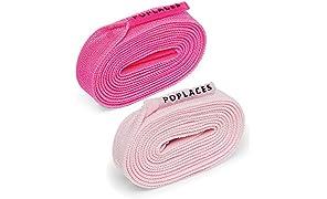 Poplaces. Une paire de lacets de chaussure « à nouer une seule fois » de Popband. 90 cm x 9 mm
