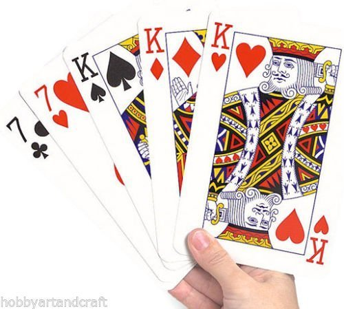 Deck Extra Large Cards Playing Cards Pack of 52 New by MY ()